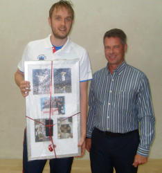 James receives memento for his 100th England cap